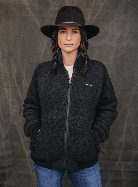 Womens Sherpa Fleece Jacket